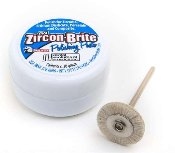 Zircon Brite 20 g Jar inkl. einer Polierbürste