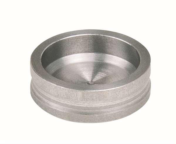 Edelstahl - Magnettöpfe, Durchmesser 15 mm - 50 St